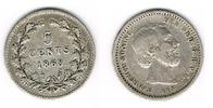 5 Cent 1868 Niederlande Niederlade 1868, 5 Cent, Silber Kursmünze, Erha... 65,00 EUR  zzgl. 5,00 EUR Versand