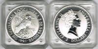 2 Dollars 1992 Australien Australien 1992, 2 Unzen 999er Silber, Kookab... 55,00 EUR