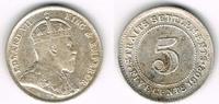 5 Cents 1902 Straits Settlements Straits Settlements, Silberkursmünze 5... 32,50 EUR