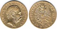 10 Mark 1877 Deutsches Kaiserreich Sachsen, 10 Mark 1877, Albert! Erhal... 275,00 EUR  zzgl. 4,00 EUR Versand