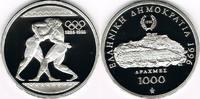1000 Drachmen 1996 Griechenland Silber-Gedenkmünze Olympsiche Spiele At... 27,00 EUR  zzgl. 5,00 EUR Versand