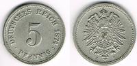 5 Pfennig 1874 F Kaiserreich Kaisserreich 5 Pfennig 1874 F, Erhaltung s... 29,00 EUR  zzgl. 5,00 EUR Versand
