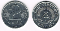 2  Mark 1984 A Deutsche Demokratische Republik DDR, 2 Mark Kursmünze 19... 35,00 EUR  zzgl. 5,00 EUR Versand