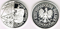200.000 Zloty 1992 Polen Polen 1992, 200.000 Zloty, 'Entdeckung Amerika... 39,00 EUR  zzgl. 5,00 EUR Versand