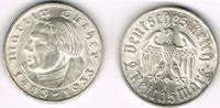 2 Mark 1933 F Drittes Reich Drittes Reich, 2 Mark Gedenkmünze Martin Lu... 33,00 EUR