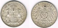 2 Mark 1914 J Hamburg Kaiserreich, Hamburg, 2 Mark 1914 J, Stadtwappen,... 49,00 EUR  zzgl. 5,00 EUR Versand