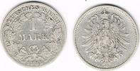 1 Mark 1882 J Kaiserreich Kaiserreich, Kursmünze 1 Mark 1882 J, 900er S... 8,50 EUR  zzgl. 5,00 EUR Versand