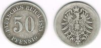 50 Pfennig 1875 C Deutsches Kaiserreich Kaiserreich, Kursmünze 50 Pfenn... 14,00 EUR  zzgl. 5,00 EUR Versand