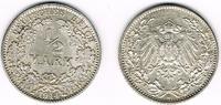 1/2 Mark 1914 J Kaiserreich Kaiserreich, Kursmünze 1/2 Mark 1914 J, 900... 4,00 EUR  zzgl. 5,00 EUR Versand