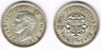 3 Pence 1937 Großbritannien 3 Pence 1937, Georg VI., Silber, siehe Scan... 4,50 EUR  zzgl. 5,00 EUR Versand