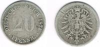 20 Pfennig 1874 A Deutsches Kaiserreich Kaiserreich, Kursmünze 20 Pfenn... 3,50 EUR  zzgl. 5,00 EUR Versand