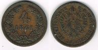 4 Kreuzer 1861 A Haus Habsburg - Österreich Franz Joseph I., 4 Kreuzer ... 8,00 EUR  zzgl. 5,00 EUR Versand
