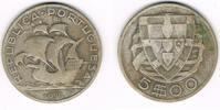 5 Escudos 1933 Portugal Portugal, 5 Escudos Kursmünze Segelschiff, Erha... 9,00 EUR  zzgl. 5,00 EUR Versand