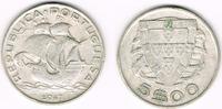 5 Escudos 1947 Portugal Portugal, 5 Escudos Kursmünze Segelschiff, Erha... 11,00 EUR  zzgl. 5,00 EUR Versand