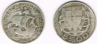 5 Escudos 1942 Portugal Portugal, 5 Escudos Kursmünze Segelschiff, Erha... 9,00 EUR  zzgl. 5,00 EUR Versand