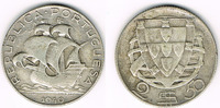 2 1/2 Escudos 1940 Portugal Portugal, 2 1/2 Escudos Kursmünze Segelschi... 10,00 EUR  zzgl. 5,00 EUR Versand