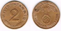2 Pfennig 1936 D Drittes Reich 3. Reich, 1936 D, Kursmünze 2 Pfennig, J... 4,00 EUR  zzgl. 5,00 EUR Versand