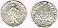 1 Franc 1916 Frankreich Frankreich, Silbermünze 1 Franc 1916, Säerin, E... 5,00 EUR  zzgl. 5,00 EUR Versand