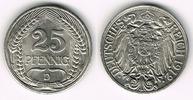 25 Pfennig 1912 D Deutsches Kaiserreich Kaiserreich, Kursmünze 25 Pfenn... 7,00 EUR  zzgl. 5,00 EUR Versand