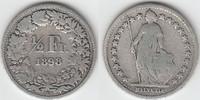 1/2 Franken 1898 Schweiz Schweiz, Kursmünze Silber, 1/2 Franken 1898 B,... 7,00 EUR  zzgl. 5,00 EUR Versand