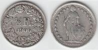 1/2 Franken 1906 Schweiz Schweiz, Kursmünze Silber, 1/2 Franken 1906 B,... 6,00 EUR  zzgl. 5,00 EUR Versand