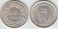 1/2 Franken 1940 Schweiz Schweiz, Kursmünze Silber, 1/2 Franken 1940 B,... 9,00 EUR  zzgl. 5,00 EUR Versand