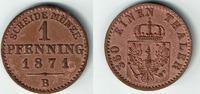 1 Pfennig 1871 B Preußen Wilhelm I., Kursmünze 1 Pfennig 1871 B, Erhalt... 7,00 EUR  zzgl. 5,00 EUR Versand
