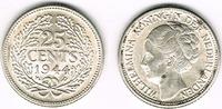 25 Cents 1944 Niederlande Niederlade 1944, Wilhelmina, 25 Cent, Erhaltu... 5,50 EUR  zzgl. 5,00 EUR Versand