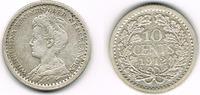 10 Cents 1912 Niederlande Niederlade 1912, Wilhelmina, 10 Cent, Erhaltu... 6,00 EUR  zzgl. 5,00 EUR Versand