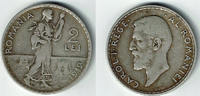 2 Lei 1912 Rumänien Romania - Kursmünze 2 Lei, Carol I., Erhaltung sieh... 24,00 EUR  zzgl. 5,00 EUR Versand