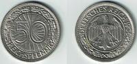 50 Pfennig 1936 F Weimarer Republik Weimar, 50 Reichspfennig 1936 F, Er... 20,00 EUR  zzgl. 5,00 EUR Versand