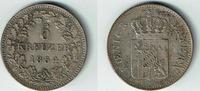 6 Kreuzer 1854 Bayern Bayern, König Maximilian II. , Kursmünze 6 Kreuze... 14,00 EUR  zzgl. 5,00 EUR Versand