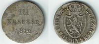 3 Kreuzer 1812 Nassau Nassau, Friedrich August u. Friedrich Wilhelm, Ku... 14,00 EUR  zzgl. 5,00 EUR Versand