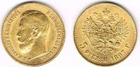 5 Rubel 1897 Russland Russland, 5 Rubel Nikolaus II., 1897, 4,30 g 900e... 189,00 EUR  zzgl. 5,00 EUR Versand