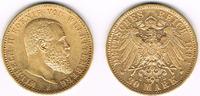 20 Mark 1894 Deutsches Kaiserreich Württemberg, 20 Mark 1894, Wilhelm I... 355,00 EUR  zzgl. 4,00 EUR Versand