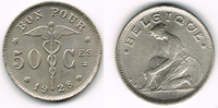 50 Centimes 1928 Belgien Belgien, Kursmünze 50 Centimes 1928, Erhaltung... 5,00 EUR  zzgl. 5,00 EUR Versand