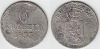 6 Kreuzer 1833 Altdeutschland - Hessen-Kassel Hessen-Kassel, 6 Kreuzer,... 10,00 EUR  zzgl. 5,00 EUR Versand