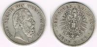 5 Mark 1876 F Württemberg Kaiserreich, Württemberg 1876 F, Wilhelm II.,... 49,00 EUR  zzgl. 5,00 EUR Versand