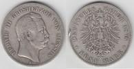 5 Mark 1876 H Hessen Hessen, 5 Mark, Großherzog Ludwig III., Erhaltung ... 50,00 EUR  zzgl. 5,00 EUR Versand