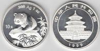 10 Yuan 1999 China China, 1 Unze Silber, Panda 1999, Erhaltung siehe Sc... 215,00 EUR  zzgl. 4,00 EUR Versand