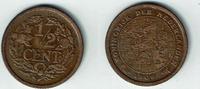 1/2 Cent 1909 Niederlande Niederlade 1909, 1/2 Cent, Wilhelmina I., Erh... 4,00 EUR  zzgl. 5,00 EUR Versand