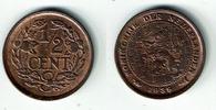 1/2 Cent 1938 Niederlande Niederlade 1938, 1/2 Cent, Wilhelmina I., Erh... 5,00 EUR  zzgl. 5,00 EUR Versand
