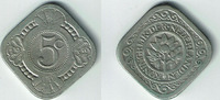 5 Cent 1932 Niederlande Niederlade 1932, 5 Cent, Wilhelmina, Erhaltung ... 8,00 EUR  zzgl. 5,00 EUR Versand