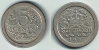 5 Cent 1907 Niederlande Niederlade 1907, 5 Cent, Wilhelmina, Erhaltung ... 4,50 EUR  zzgl. 5,00 EUR Versand