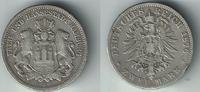 2 Mark 1876 J Hamburg Kaiserreich, Hamburg, 2 Mark 1876 J, Stadtwappen,... 18,00 EUR  zzgl. 5,00 EUR Versand