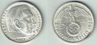 5 Reichsmark 1938 D Drittes Reich Drittes Reich, 5 Reichsmark 1938 D, H... 13,00 EUR  zzgl. 5,00 EUR Versand