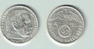5 Reichsmark 1937 D Drittes Reich Drittes Reich, 5 Reichsmark 1937 D, H... 12,50 EUR  zzgl. 5,00 EUR Versand