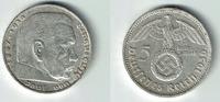 5 Reichsmark 1936 D Drittes Reich Drittes Reich, 5 Reichsmark 1936 D, H... 12,50 EUR  zzgl. 5,00 EUR Versand
