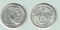 5 Reichsmark 1936 E Drittes Reich Drittes Reich, 5 Reichsmark 1936 E, H... 14,00 EUR  zzgl. 5,00 EUR Versand