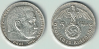 5 Reichsmark 1938 G Drittes Reich Drittes Reich, 5 Reichsmark 1938 G, H... 14,00 EUR  zzgl. 5,00 EUR Versand
